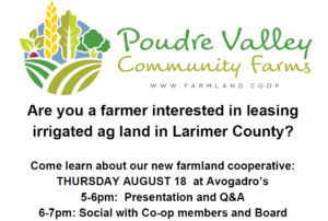 Poudre Valley Community Farms Information Session @ Avagadro's Number | Mount Vernon | Georgia | United States